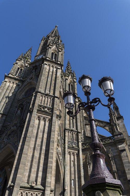 cathedral  buildings  san sebastian