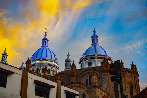 cathedral of cuenca  basin  ecuador