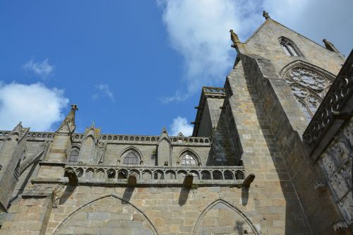 cathedral of dol de bretagne tourist town wall