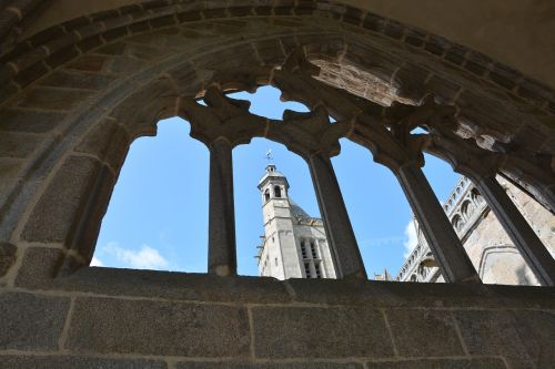 cathedral of dol de bretagne bell tower cathedral blue sky