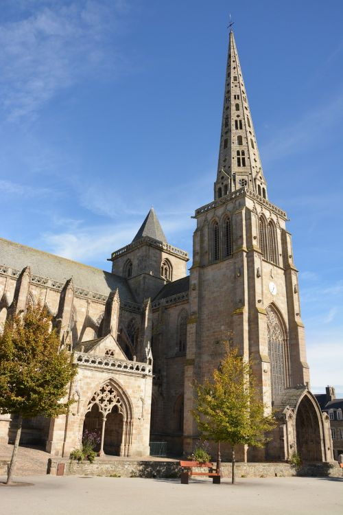 cathedral of tréguier tourist town brittany