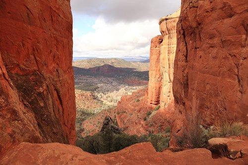 cathedral rock  landscape beautiful  landscape background