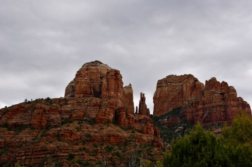 Cathedral Rocks Cloudy