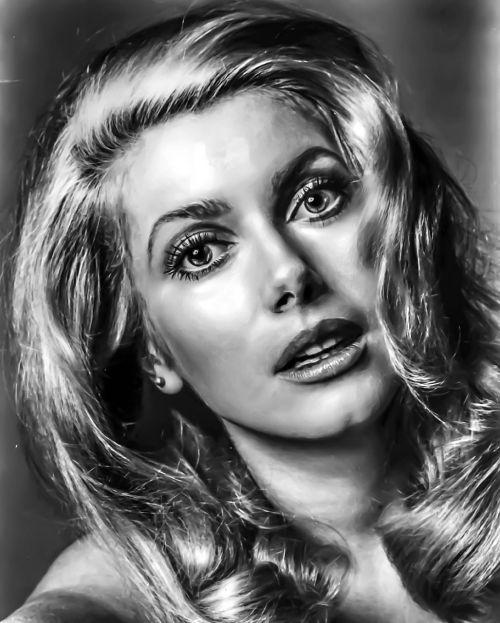 catherine deneuve portrait hollywood actress