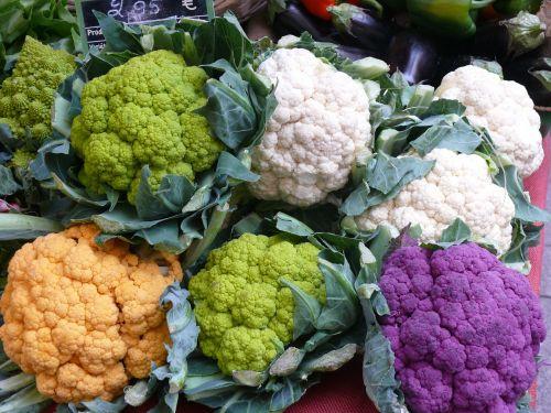 cauliflower colorful vegetables