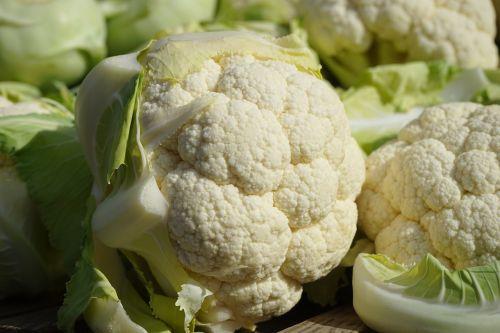 cauliflower vegetables market fresh vegetables