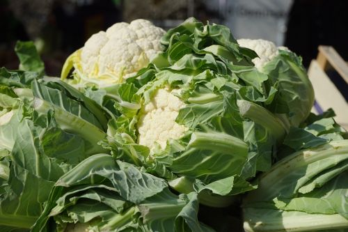 cauliflower vegetables market fresh vegetables