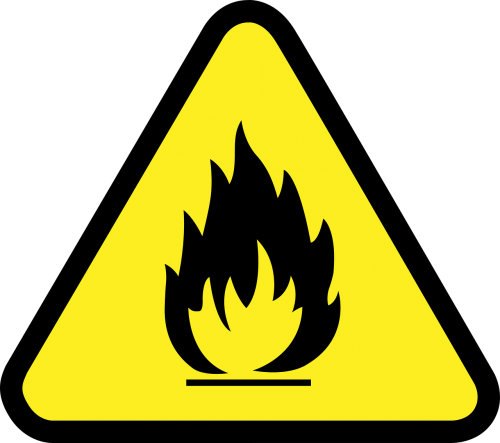 caution flammable industrial safety