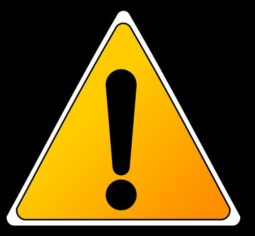 caution hazard warning
