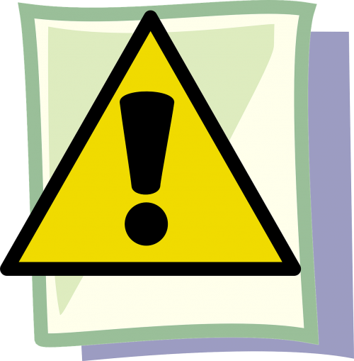 caution important hazard