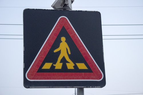 caution  signs  pedestrian of the week