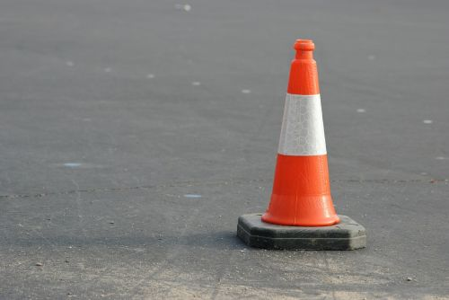 caution cone orange