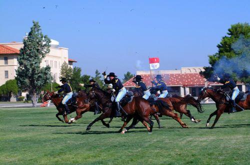 cavalry army reenactment