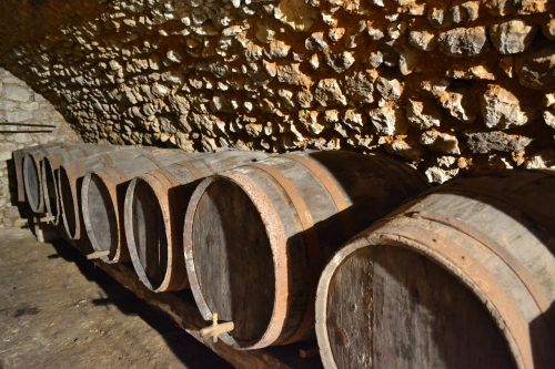 cave barrel wine