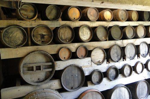 cave barrels wine