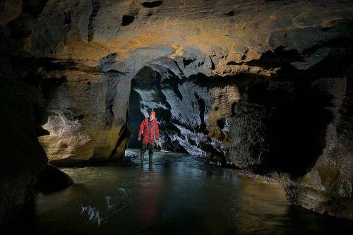 cave underground river potholing