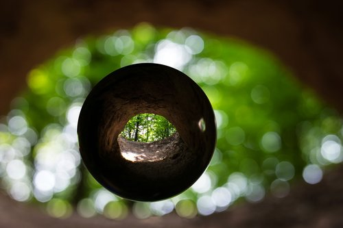 cave  cave entrance  glass ball