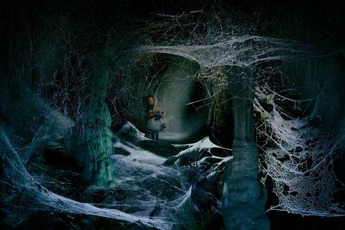 cave  dark  little girl