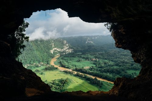 cave view river