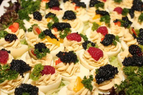 caviar egg buffet