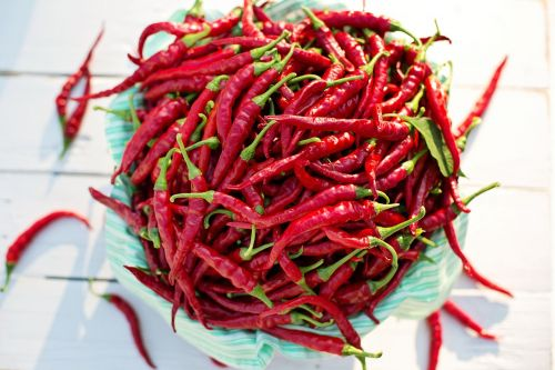 cayenne peppers red peppers hot peppers