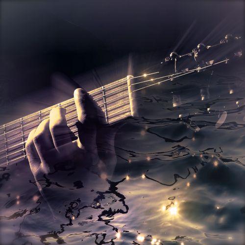 cd cover guitar water
