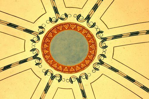 ceiling mural painting