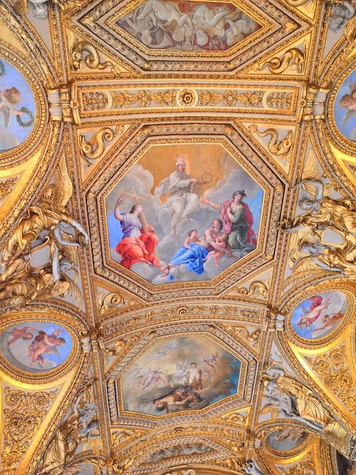 ceiling  louvre  paintings