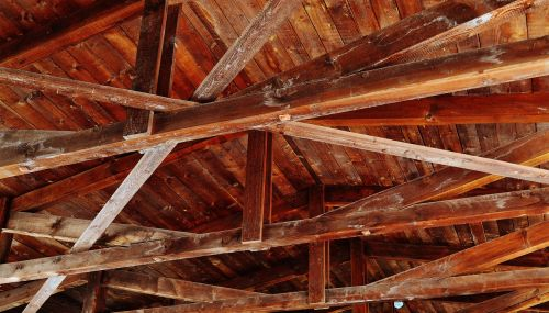 ceiling construction wood blanket