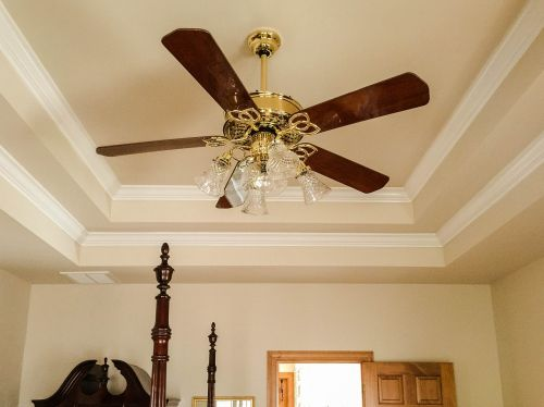 ceiling fan tray ceiling crown molding