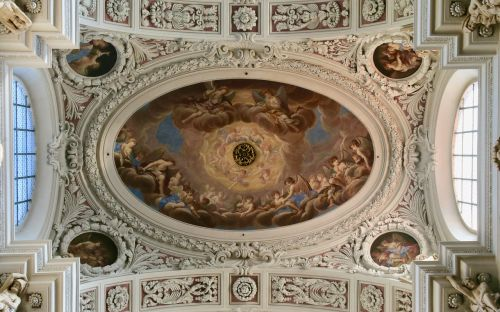 ceiling painting fresco passau