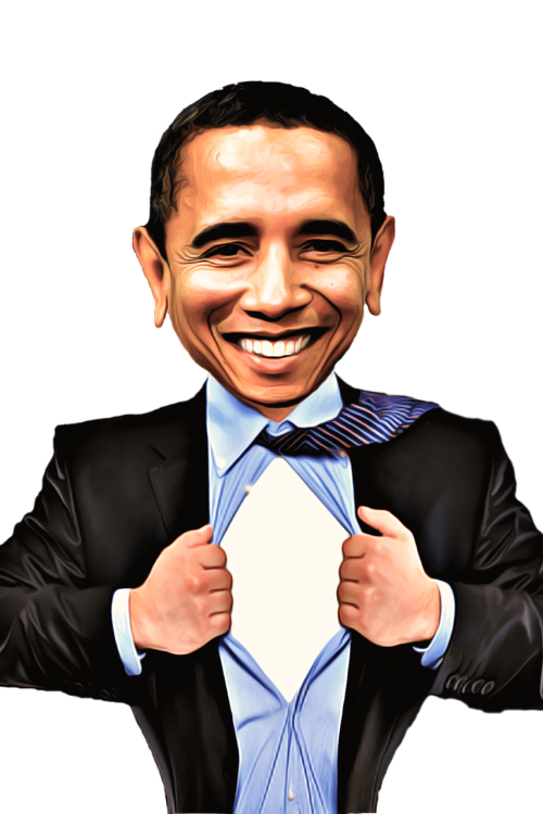 celebrity caricature obama