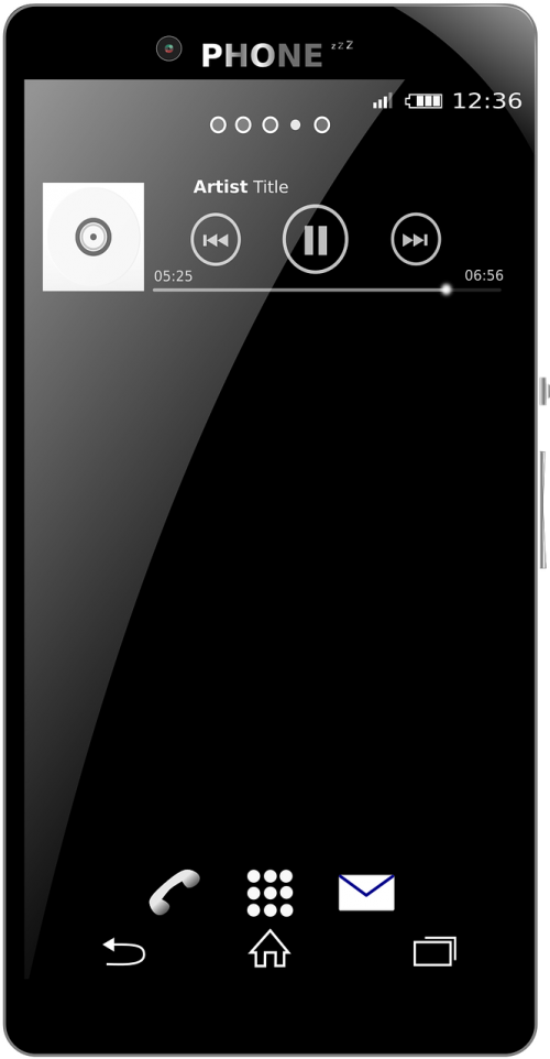 cell phone phone touch interface
