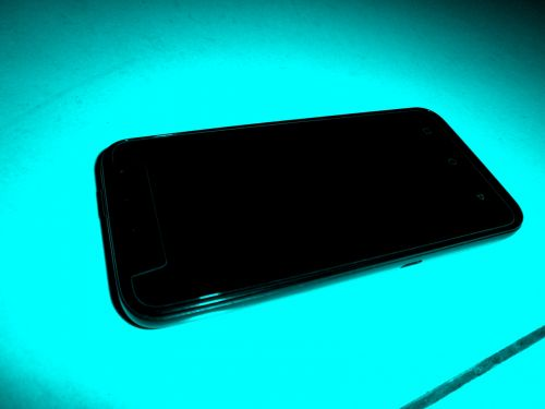 Cell Phone - Green Background