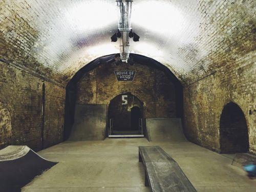 celler basement skateboarding