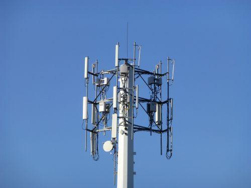 cellular tower sky blue