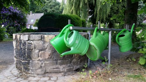 cemetery watering cans fountain