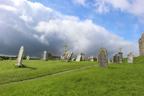 cemetery grave clouds