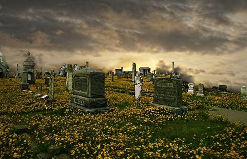 cemetery graveyard gravestones