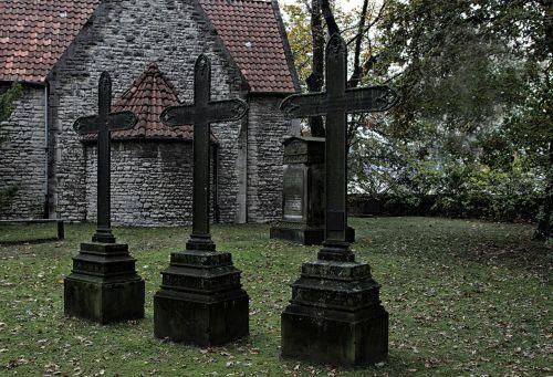 cemetery crosses graves