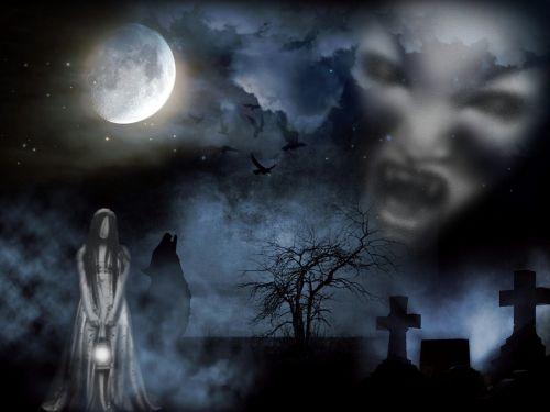 cemetery creepy ghosts