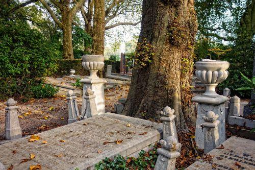 cemetery graveyard tombstones