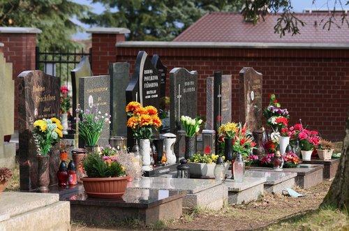 cemetery  the tombstones  graves