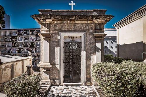 cemetery  crypt  grave