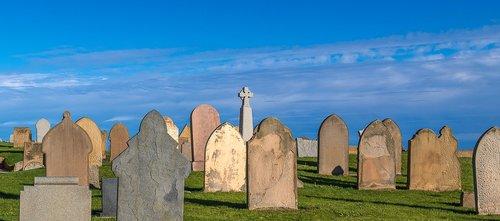 cemetery  sky  grave stones