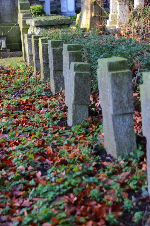 cemetery cross grave stones