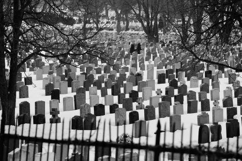 cemetery graves tombstones