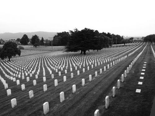 cemetery graves soldiers
