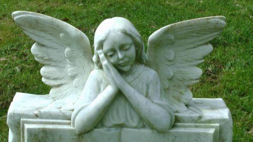 Cemetery Angel In Graveyard