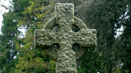 Cemetery Cross In Graveyard